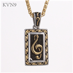 Vintage Dog Tag Pendant Religious Nice Design Jewelry Stainless Steel Gold Plated Necklace S422