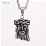 Jesus Head Pendant Necklace?Women Men Christian Jewelry Vintage Stainless Steel Necklace S428