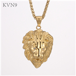 Lion Head Pendant Gold Plated New Trendy Jewelry Stainless Steel Animal Pendant & Necklace S451