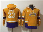 Los Angeles Lakers #23 Lebron James Youth Gold Hoodies