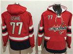 Washington Capitals #77 T.J. Oshie Men's Red Hoodies