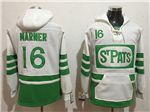 Toronto Maple Leafs #16 Mitchell Marner Men's White 2019 St.Patrick's Day Hoodies