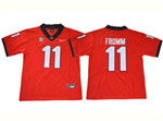 Georgia Bulldogs #11 Jake Fromm Red College Football Jersey