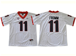 Georgia Bulldogs #11 Jake Fromm White College Football Jersey