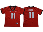 Georgia Bulldogs #11 Jake Fromm Youth Red College Football Jersey