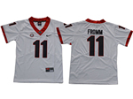 Georgia Bulldogs #11 Jake Fromm Youth White College Football Jersey