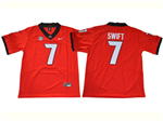 Georgia Bulldogs #7 D'Andre Swift Red College Football Jersey