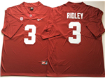 Alabama Crimson Tide #3 Calvin Ridley Red College Football Jersey