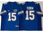 Florida Gators #15 Tim Tebow Blue College Football Jersey