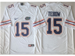 Florida Gators #15 Tim Tebow White College Football Jersey