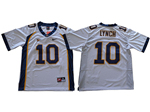 California Golden Bears #10 Marshawn Lynch White College Football Jersey