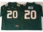 Miami Hurricanes #20 Ed Reed Green College Football Jersey