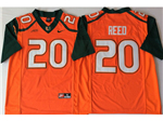 Miami Hurricanes #20 Ed Reed Orange College Football Jersey