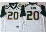 Miami Hurricanes #20 Ed Reed White College Football Jersey