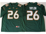 Miami Hurricanes #26 Sean Taylor Green College Football Jersey