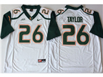 Miami Hurricanes #26 Sean Taylor White College Football Jersey