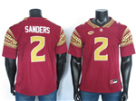 Florida State Seminoles #2 Deion Sanders Red College Football Jersey