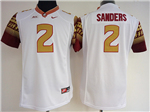 Florida State Seminoles #2 Deion Sanders White College Football Jersey