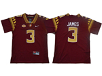 Florida State Seminoles #3 Derwin James Youth Red College Football Jersey