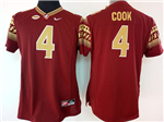 Florida State Seminoles #4 Dalvin Cook Red College Football Jersey