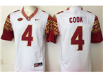 Florida State Seminoles #4 Dalvin Cook White College Football Jersey
