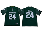 Michigan State Spartans #24 Le'Veon Bell Green College Football Jersey
