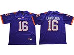 Clemson Tigers #16 Trevor Lawrence Purple College Football Jersey