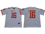 Clemson Tigers #16 Trevor Lawrence White College Football Jersey