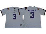 LSU Tigers #3 Odell Beckham Jr. White College Football Jersey