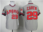 California Angels #29 Rod Carew Throwback Gray Jersey