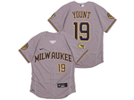 Milwaukee Brewers #19 Robin Yount Gray 2020 Flex Base Jersey