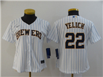Milwaukee Brewers #22 Christian Yelich Women's White 2020 Cool Base Jersey