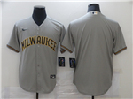 Milwaukee Brewers Gray Cool Base Team Jersey