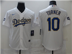 Los Angeles Dodgers #10 Justin Turner White 2021 Gold Program Cool Base Jersey