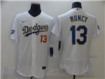 Los Angeles Dodgers #13 Max Muncy White 2021 Gold Program Cool Base Jersey