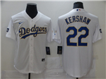 Los Angeles Dodgers #22 Clayton Kershaw White 2021 Gold Program Cool Base Jersey