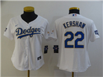 Los Angeles Dodgers #22 Clayton Kershaw Women's White 2021 Gold Program Cool Base Jersey