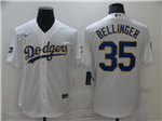 Los Angeles Dodgers #35 Cody Bellinger White 2021 Gold Program Cool Base Jersey