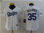 Los Angeles Dodgers #35 Cody Bellinger Women's White 2021 Gold Program Cool Base Jersey
