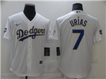 Los Angeles Dodgers #7 Julio Urias White 2021 Gold Program Cool Base Jersey
