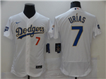 Los Angeles Dodgers #7 Julio Urias White 2021 Gold Program Flex Base Jersey