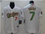 Los Angeles Dodgers #7 Julio Urias White Mexico Flag Themed World Series Jersey