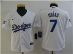Los Angeles Dodgers #7 Julio Urias Youth White 2021 Gold Program Cool Base Jersey