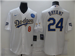 Los Angeles Dodgers #8/24 Kobe Bryant White 2021 Gold Program Cool Base Jersey