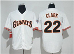 San Francisco Giants #22 Will Clark 1989 Throwback White Jersey