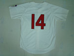 Cleveland Indians #14 Larry Doby 1951 Throwback Cream Jersey