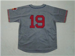 Cleveland Indians #19 Bob Feller 1948 Throwback Gray Jersey