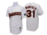 San Diego Padres #31 Dave Winfield 1978 Throwback White Pinstripe Jersey