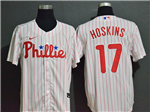 Philadelphia Phillies #17 Rhys Hoskins White 2020 Cool Base Jersey