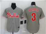 Philadelphia Phillies #3 Bryce Harper Gray 2020 Cool Base Jersey